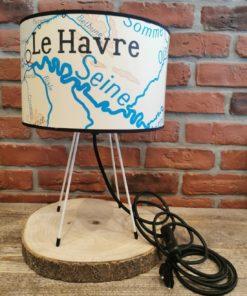 Lampe Carte Scolaire Noire Le Havre