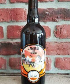"""Bière ambrée bio La Lie 75 cl """"L'ambrée du hameau"""""""