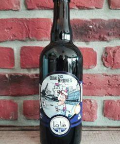 """Bière brune bio La Lie 75 cl """"Quai des Brunes"""""""