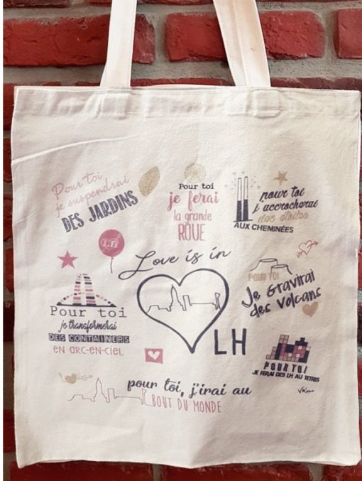 Tote Bag Love is in LH