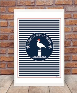 affiche mouette from le havre
