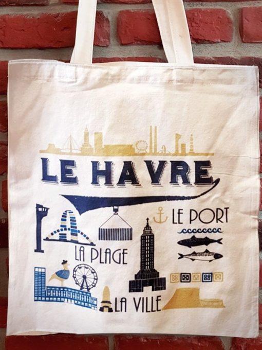 Tote Bag Le Havre Le port la plage la ville