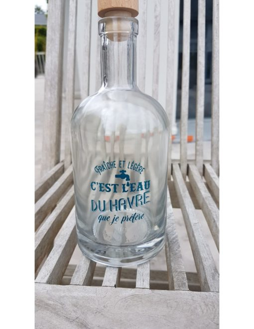 Carafe bleue C'est l'Eau du Havre, que je préfère !