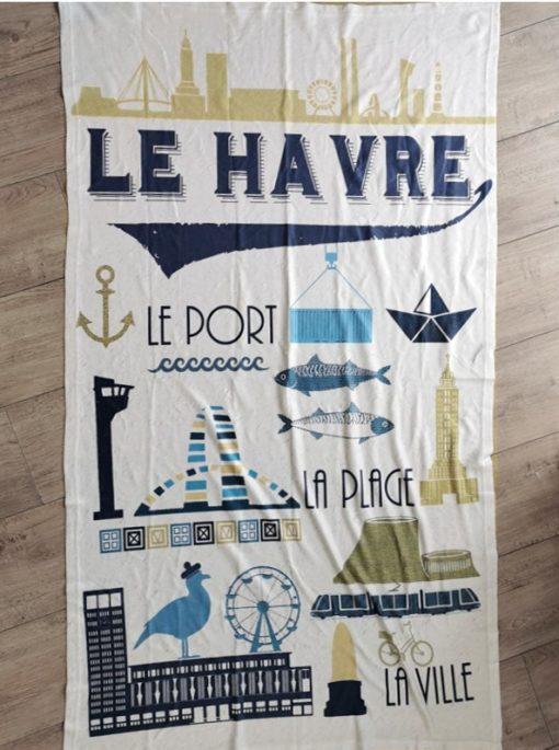 Serviette de Plage Le Havre Vintage