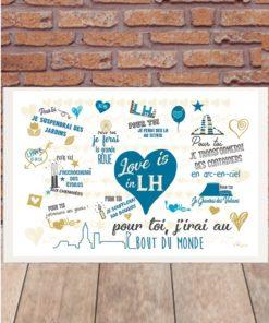 Love is in LH version bleue