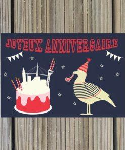 Carte Postale anniversaire mouette