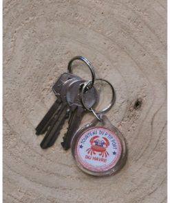 Porte clé rond Tourteau Havrais