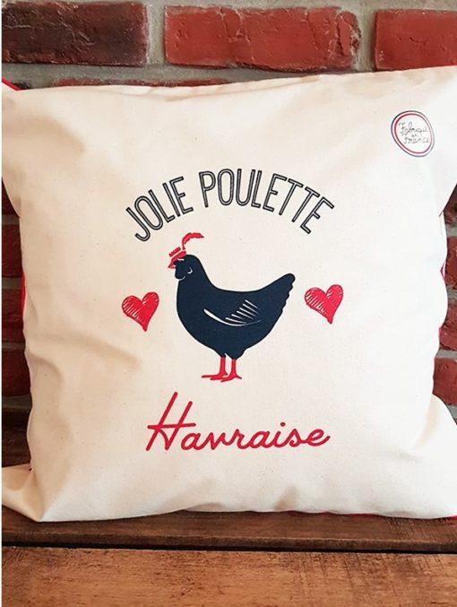 Coussin Jolie poulette havraise