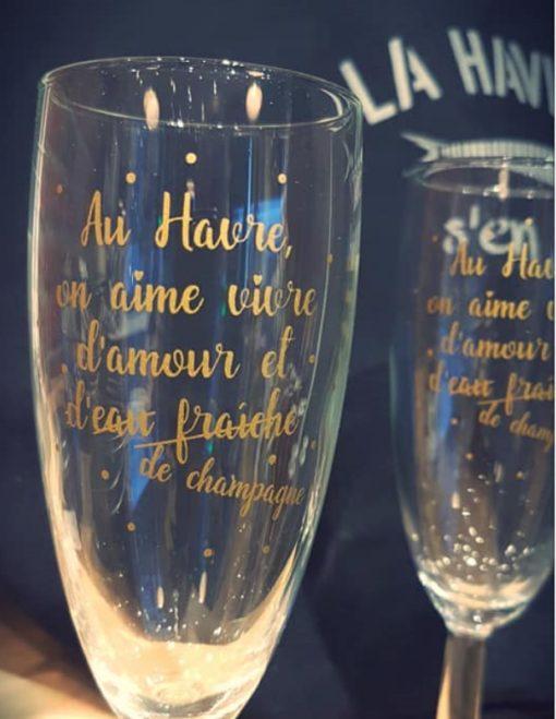 Coupes à Champagne Le Havre par 6
