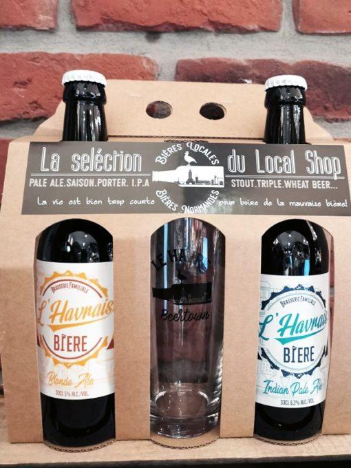 Pack L'Havrais bière Blonde+IPA+Verre