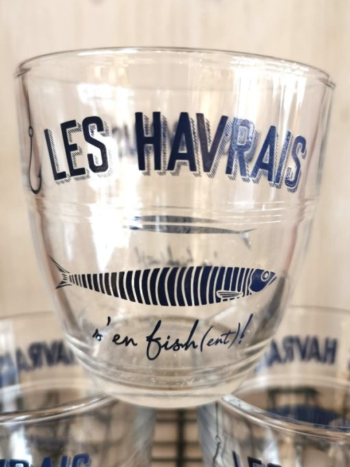 6 Verres Duralex Les Havrais s'en fish(ent) !