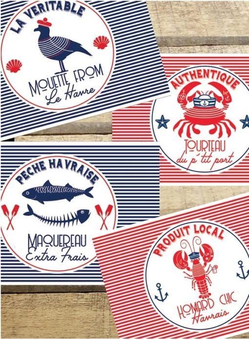 Sets de Table Bord de mer Le Havre (recto-verso)