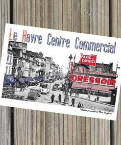 Carte Postale Centre Commercial rétro.
