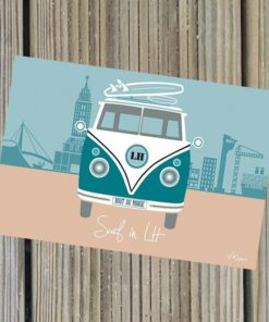 Carte Postale Surf in Lh version rose