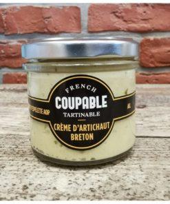 Crème d'artichaut breton, piment d'Espelette, ail, basilic