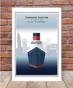 Affiche Transatlantique