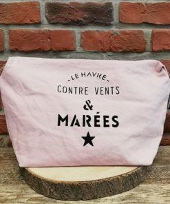 Grande Pochette rose Le Havre contre vents et marées