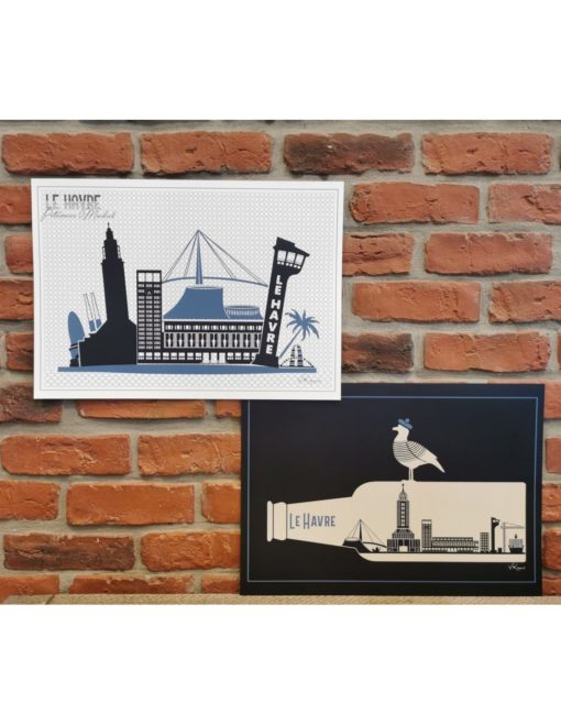 Sets de Table Le Havre Patrimoine Mondial (recto-verso)