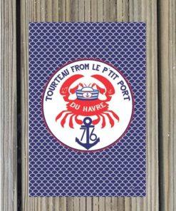Carte postale Tourteau from le p'tit port